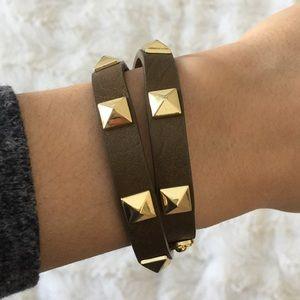 Stella & Dot Pyramid Double Wrap Bracelet